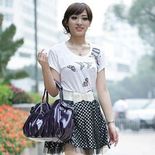 Buy Smoothie Chain Patent Shoulder Bag 1023012151