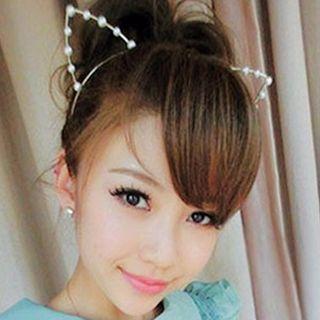 Beaded Cat-Ear Hair Band 1048746840