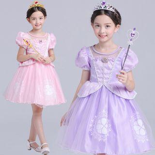 Short-sleeve | Princess | Costume | Dress | Kid