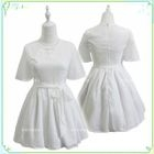 Chinese Frog Button A-Line Dress with Sash 1596