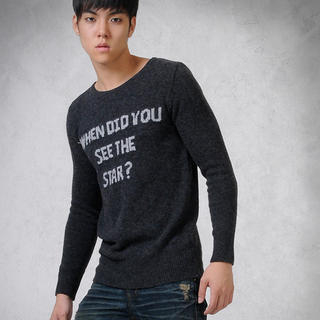 Buy deepstyle Logo Print Knit Pullover 1021608300