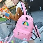 Printed Nylon Backpack with Pencil Case 1596