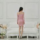 Off-Shoulder Mini Bodycon Dress 1596