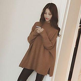 Slit Side Long Sweater 1052875444