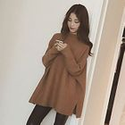 Slit Side Long Sweater 1596