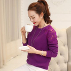 Lace Panel Knit Top 1596