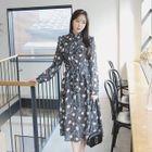 Frilled A-Line Chiffon Dress 1596