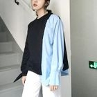 Color-Block Asymmetric Sweatshirt 1596