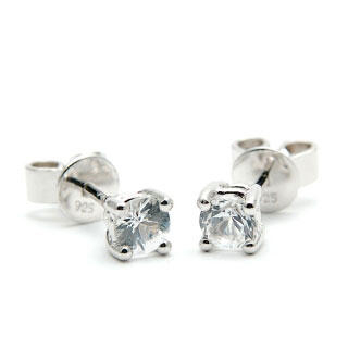 Image For White sapphire stud earrings