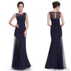 Sleeveless Sheath Evening Gown 1596