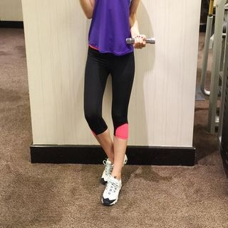 Color Block Capri Sport Pants 1058466930
