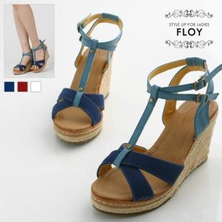 Buy FLOY SHOES T-Strap Wedge Sandals 1023053959