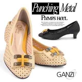 Picture of ganzi Perforated Pumps 1023051480 (Pump Shoes, ganzi Shoes, Korea Shoes, Womens Shoes, Womens Pump Shoes)