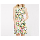 Floral Print Sleeveless Open Back Dress 1596