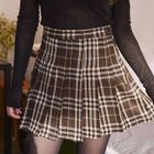 Checked Pleated Skirt 1596