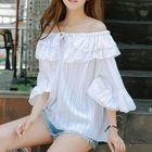 3/4-Sleeve Off-Shoulder Striped Top от YesStyle.com INT