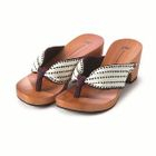 High-Heeled Wood Sandals