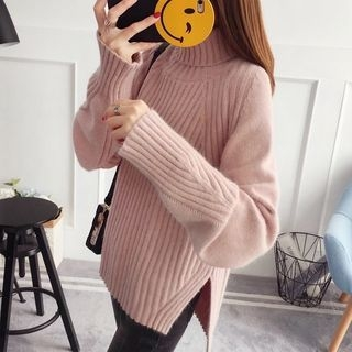 Plain Ribbed Sweater 1063639704