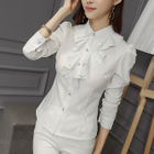 Frilled Trim Blouse 1596