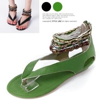 Buy STYLE LINE Beaded Thong Sandals 1022833596