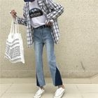 Color Block Wide Leg Jeans 1596