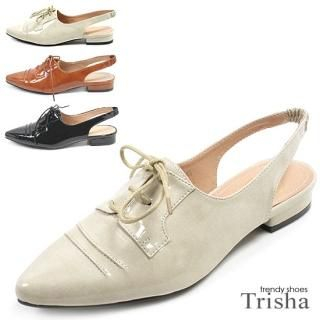 Buy Trisha Point Toe Lace-up Slingback Flats 1020281842