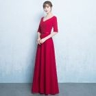 V-Neck Buttoned Evening Gown 1596