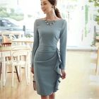 Ruffle Sheath Dress 1596