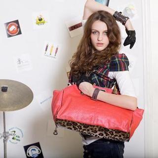 Buy Gossip Girl Leopard Print Shoulder Bag Oriental Red – One Size 1022944970
