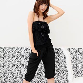 Buy 59 Seconds Strapless Lace Jumpsuit 1022903581