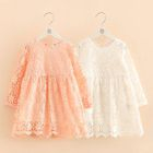 Kids Long Sleeve Crochet Lace Dress 1596