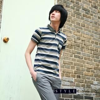 Buy Style Engine Short-Sleeve Stripe Polo Shirt 1022463539