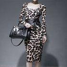 Long-Sleeve Leopard-Print Dress 1596