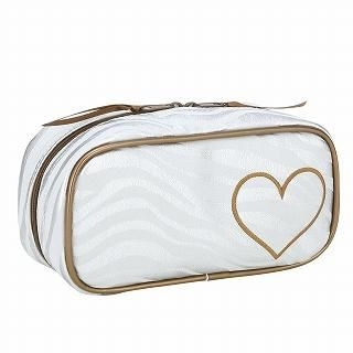 Picture of ROOTOTE Heart Zebra Print Cosmetic Case [AVION DE PAPIER - Gloss-B] Light Gray - One Size 1022777264 (ROOTOTE, Other Bags, Japan Bags, Womens Bags, Other Womens Bags)