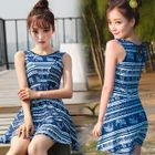 Patterned Swim Dress 1596