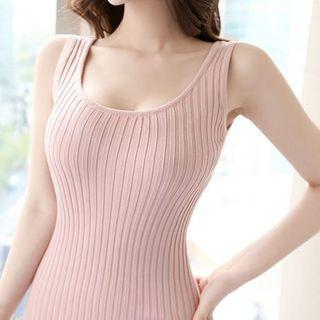 Sleeveless Ribbed Bodycon Dress 1059654320