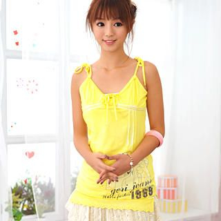 Buy Geri Tie-Front Embroidered Print Top 1021070524
