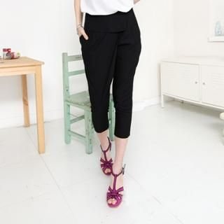Picture of Drama Cropped Baggy Pants 1022581450 (Womens Saruel Pants, Womens Cropped Pants, Drama Pants, South Korea Pants)