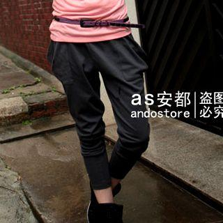 Picture of Ando Store Drape-Pocket Slim-Fit Pants 1022710394 (Womens Slim-Fit Pants, Ando Store Pants, China Pants)