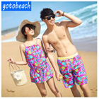 Print Bikini + Cover-Up Set / Matching Couple Men Swim Shorts 1596