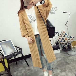 Ribbed Long Cardigan 1052752184