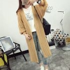 Ribbed Long Cardigan 1596