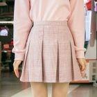 Pleated Plaid Mini Skirt 1596