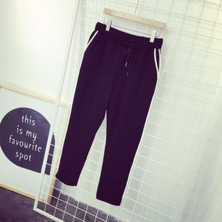 Contrast Trim Sweatpants 1050048228