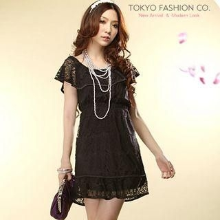 Buy Tokyo Fashion Cape-Collar Lace Dress 1022731894