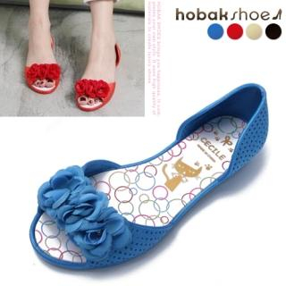 Buy HOBAK girls Rosette Jelly Flats 1022758758