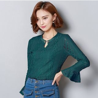 Lace Long-Sleeve Top 1052964676