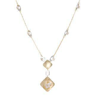 Image For 18K White & Yellow Gold Necklace with Pearls