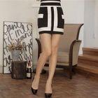Colour Block Pencil Skirt 1596