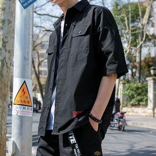 Image of Elbow Sleeve Double Flap Pocket Shirt